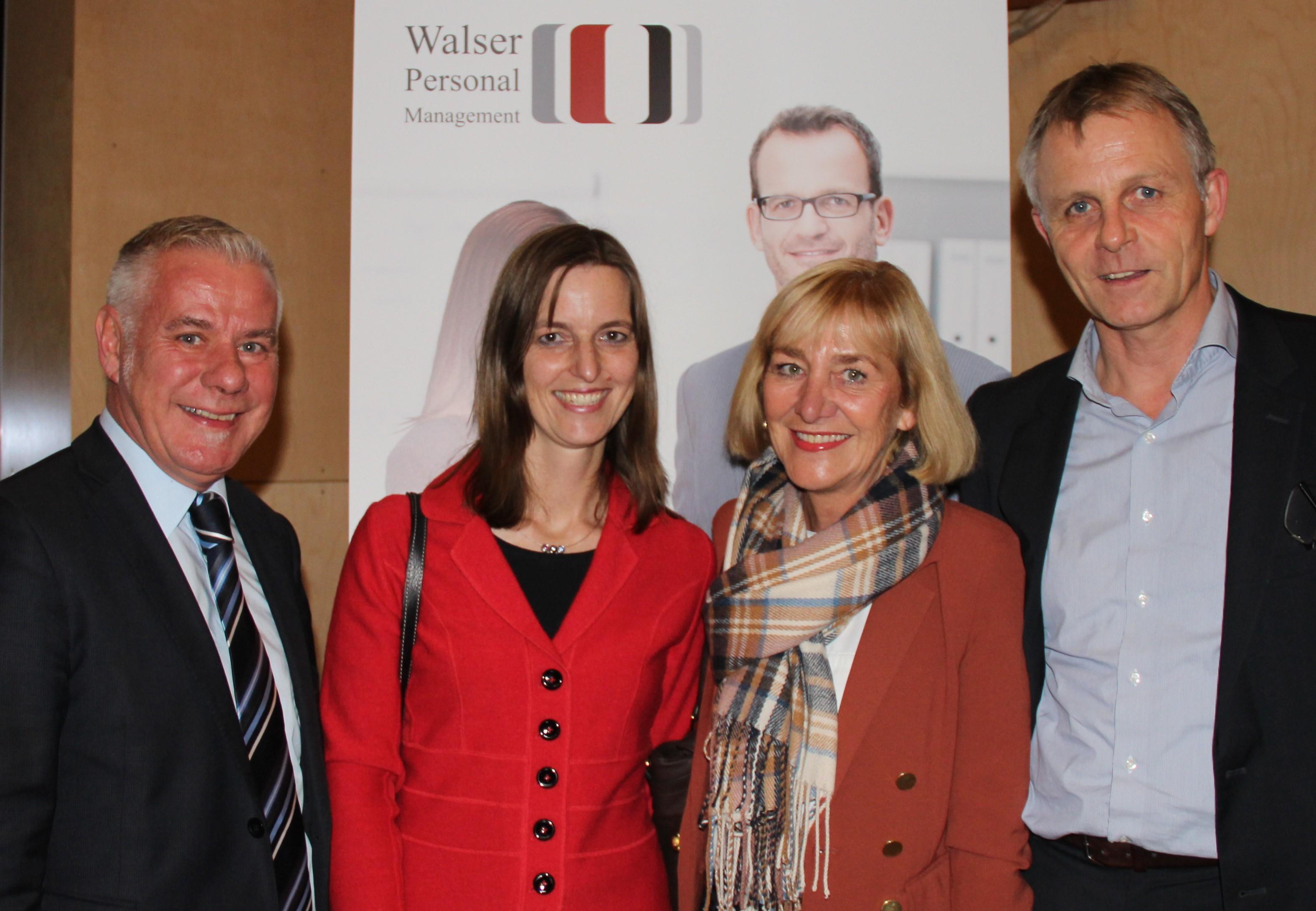 Michael Walser mit Martha Stüttler-Hartmann, Constance Nitschmann und Direct Search Partner Claus Müller