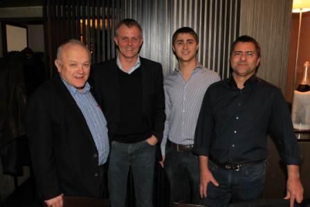 Führungskräfte des WdF Vorarlberg unter sich: Wolfgang Honold, Claus Müller, Tobias Dona, Ernst Dona